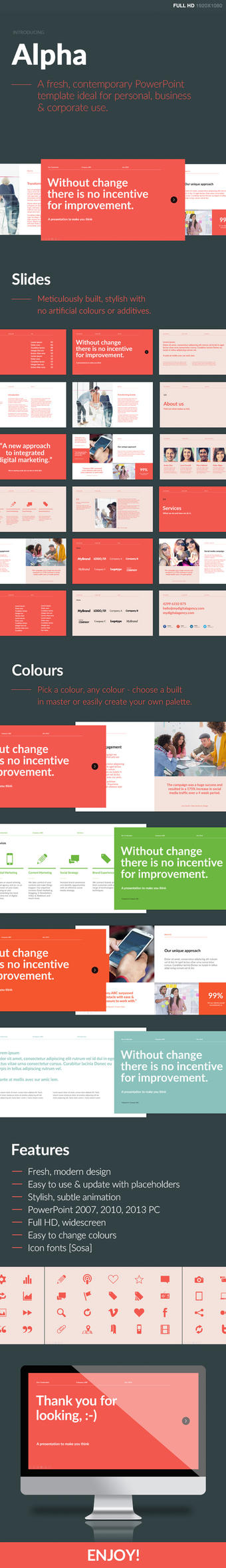 Alpha PowerPoint Template by dmx005