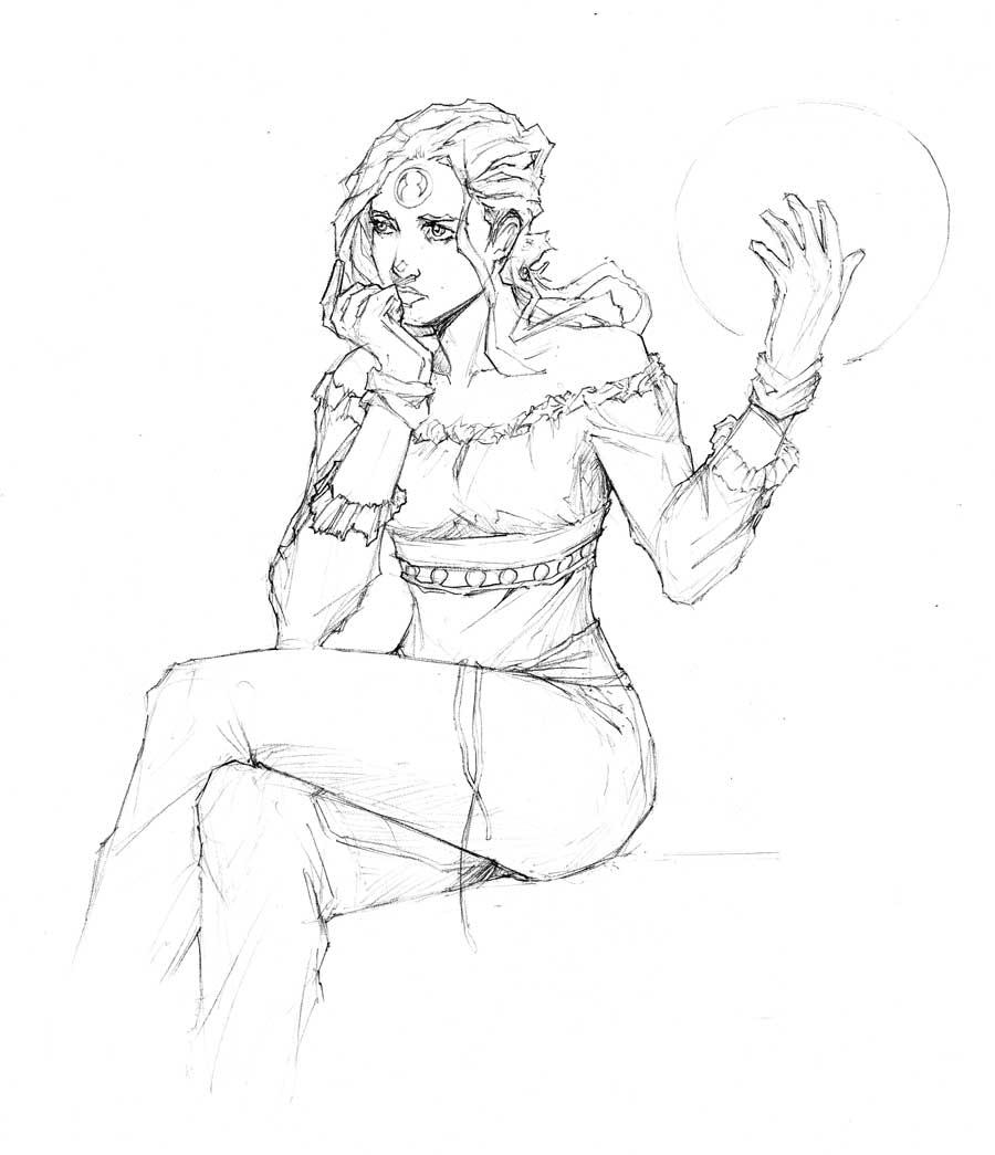 Sephie Sketch -Meridian by randomacroblack