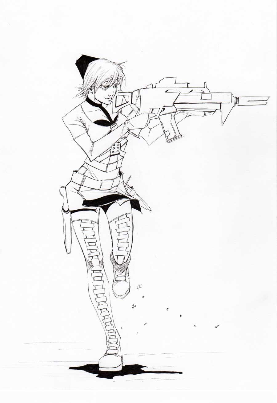 Rocket- Sucker Punch Sketch by randomacroblack