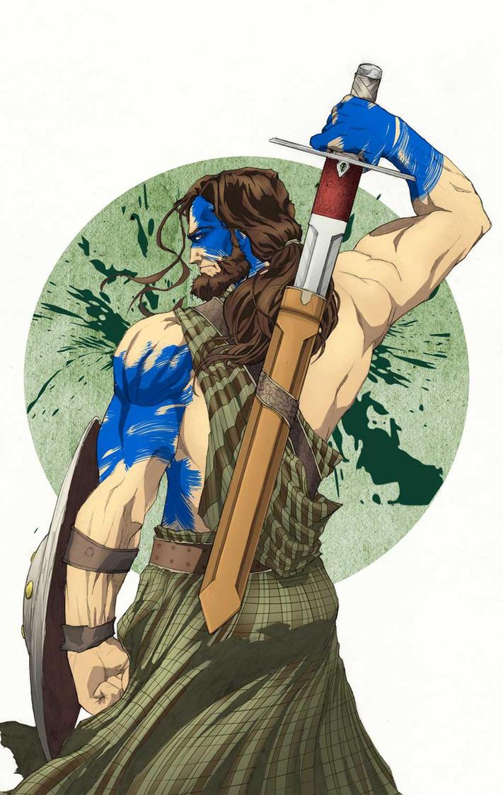 Braveheart Warrior by randomacroblack