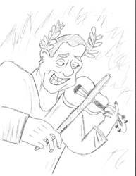 Imperatore Nerone (Emperor Nero) e il suo violino