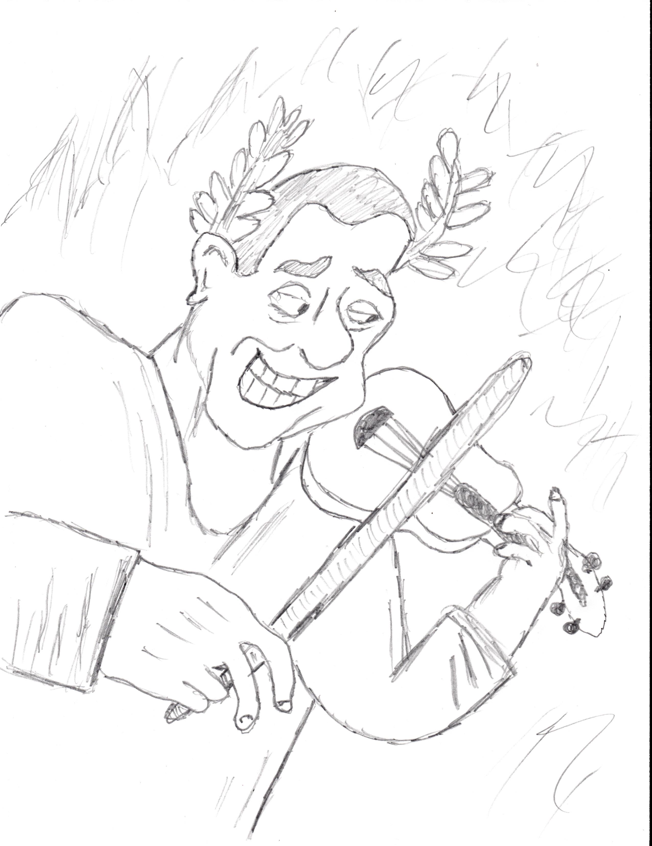Imperatore Nerone (Emperor Nero) e il suo violino by degrak