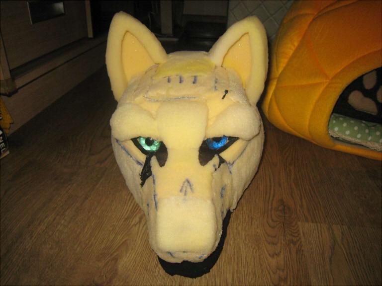 how to make furry head