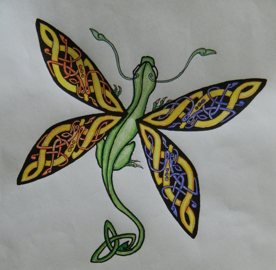 Coloring Page Celtic F C: Color Test Celtic Dragonfly By Celtic-Dragonfly On DeviantART