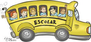 Charge cartoon onibus escolar School bus