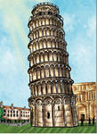 Cartoon Torre de Pisa pisa tower italia italy