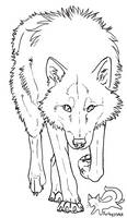 Wolf lineart - free to use