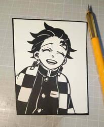 Papercut: Tanjirou Kamado by The-Old-Y