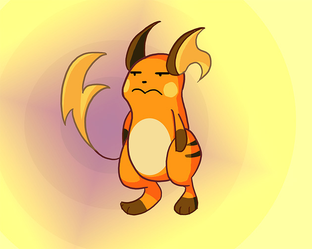 Bored Raichu by Phantosanucca