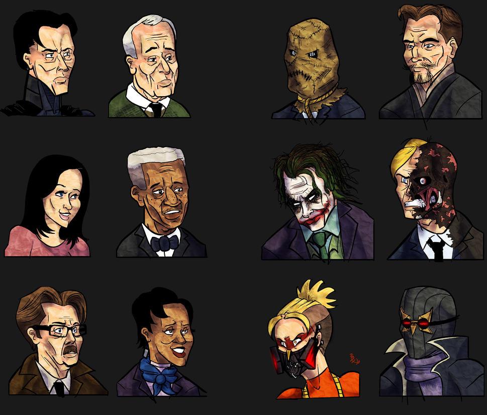 Batman Nolanized Cast By Phantosanucca On DeviantArt