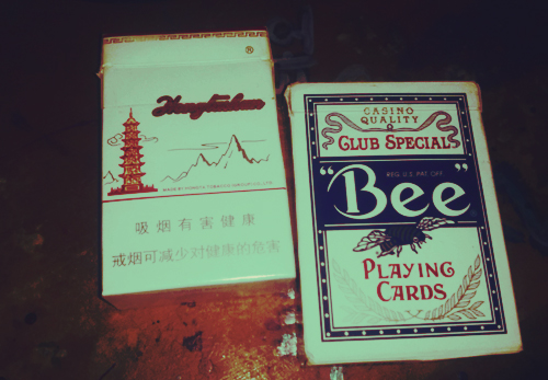 Cards and cigarettes by BanBlue