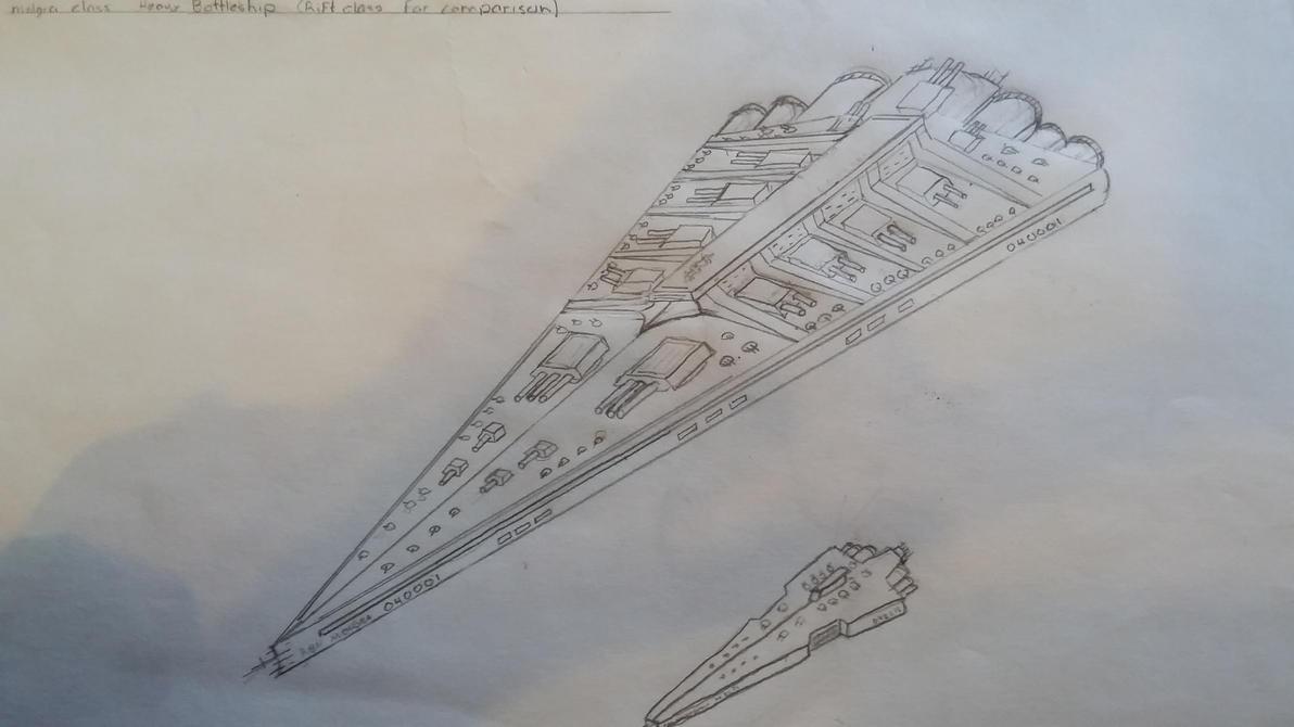 Heavy Battleship art by eyebelong