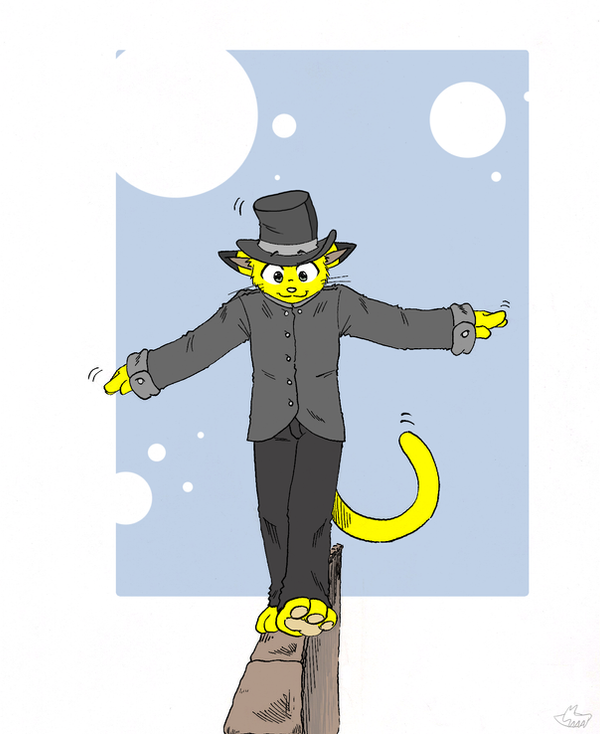 That yellow cat by fecama
