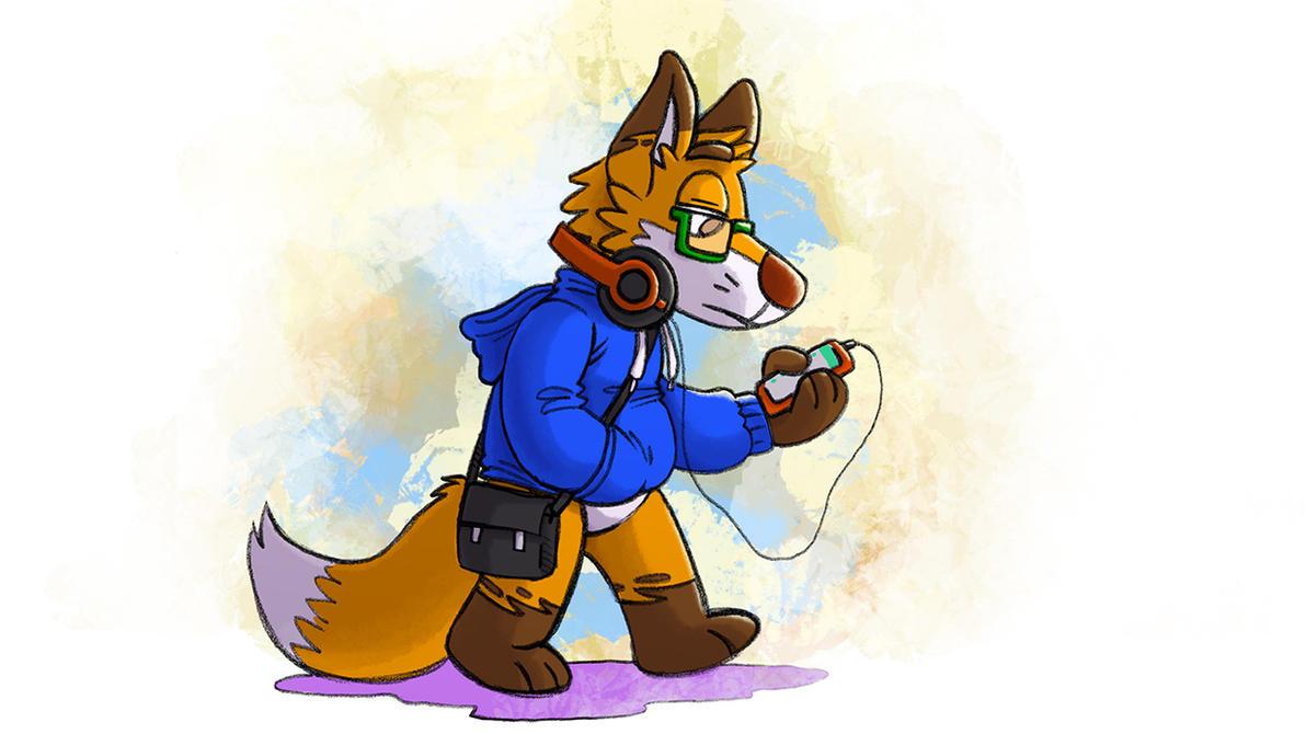 Walking Fox by fecama