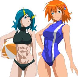Water-type Mega Girls by Fallere825