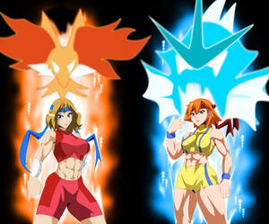 Misty and Serena Battle Aura