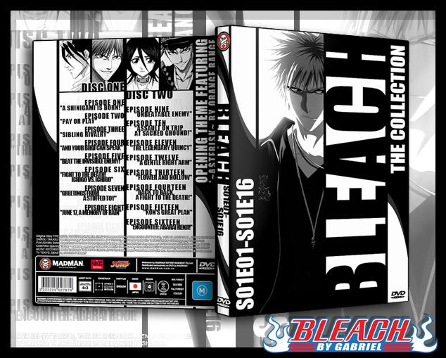 Bleach S01E01-S01E16 DVD Cover by TheNotoriousGAB