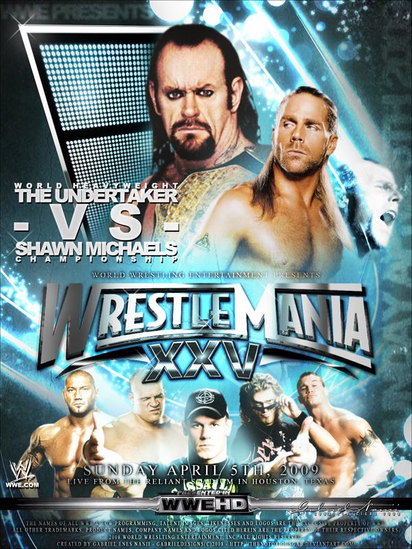 Wrestlemania 25 Custom Poster1