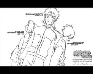 Naruto Shippuuden Lineart by TheNotoriousGAB