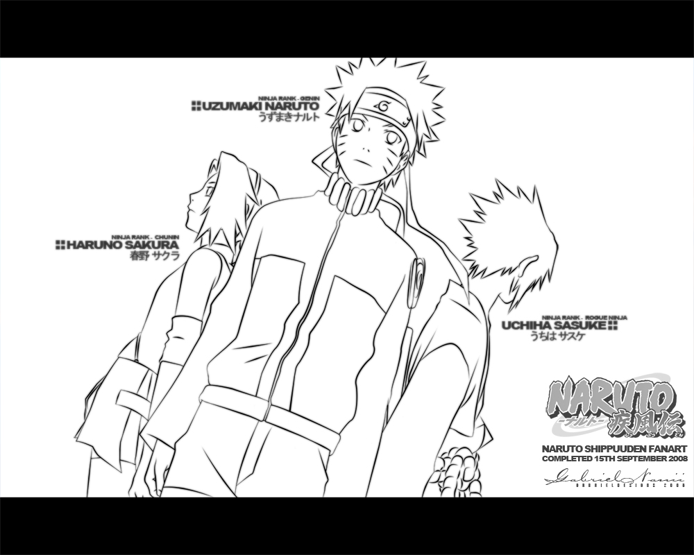 Naruto Shippuuden Lineart by TheNotoriousGAB