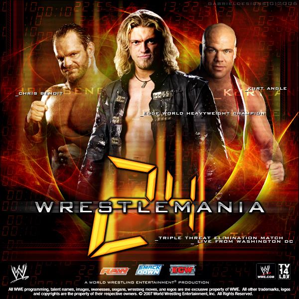 Wrestlemania 24 Fantasy Poster by TheNotoriousGABWrestlemania 24 Poster