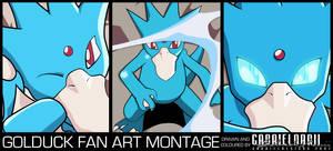 Golduck Fan Art Montage
