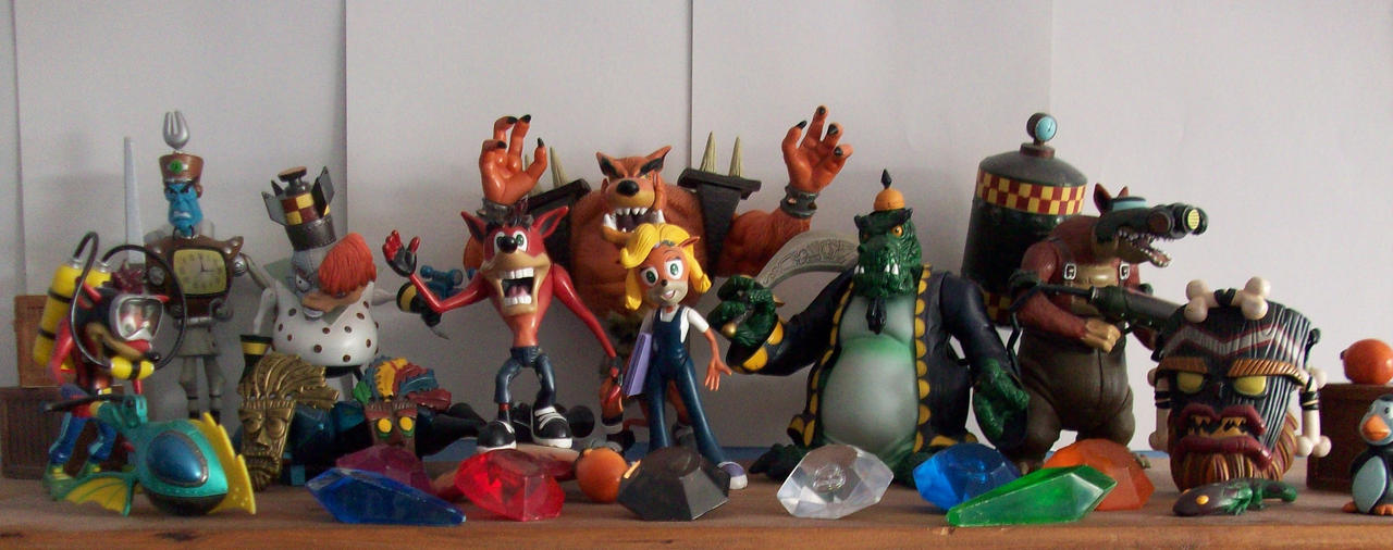 Crash Game Toy : Action figure collection pt by redflare on deviantart