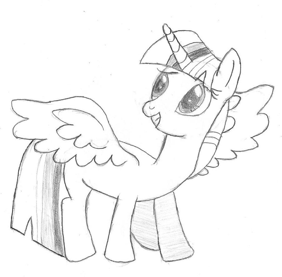 My Little Pony With Wings Coloring Pages : How to draw pony with wings