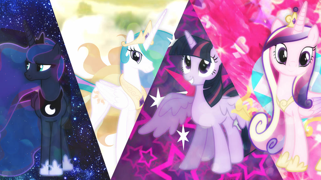 The Four Princesses Of Equestria! by 4EverRandomPuppy20