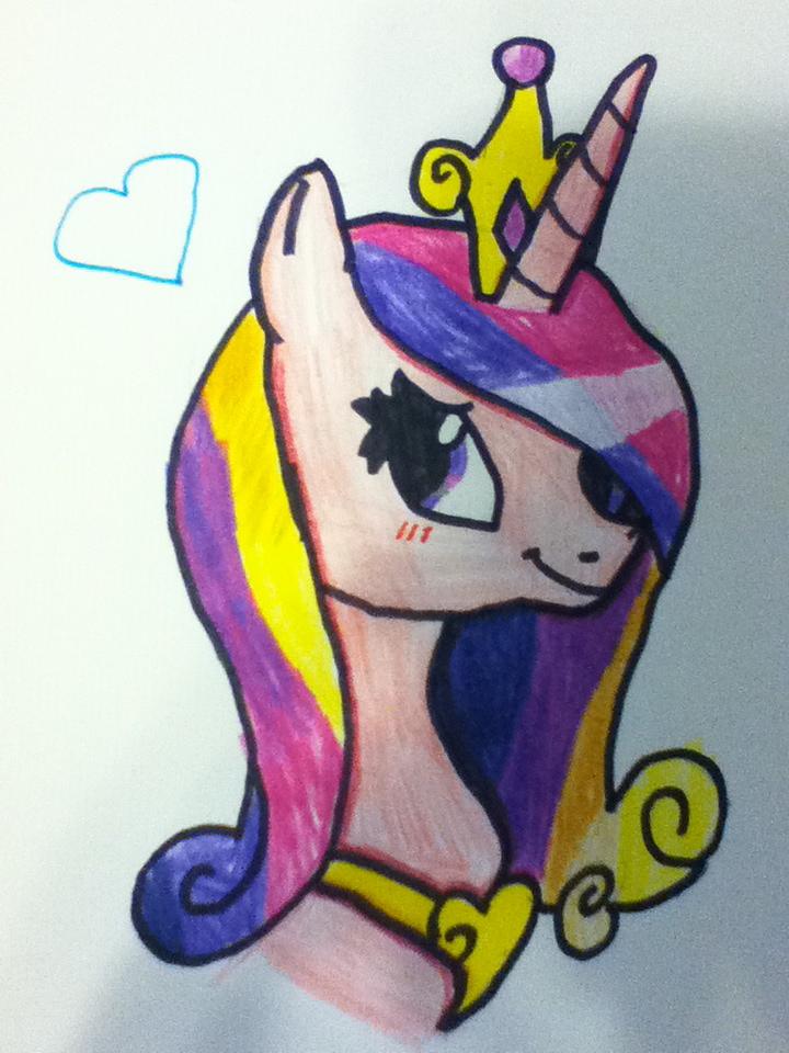 Princess Cadence Drawing! by 4EverRandomPuppy20 on deviantART