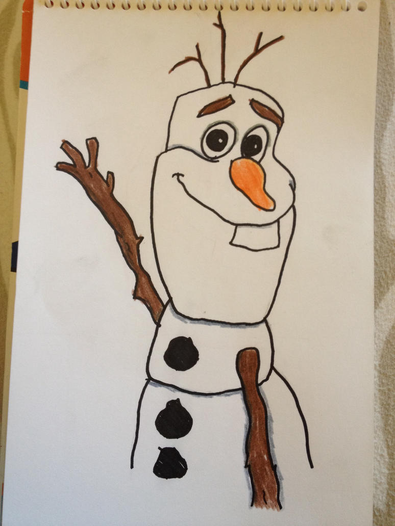 how to draw olaf cute