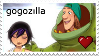 GogoZilla Stamp! by xRandomGurl