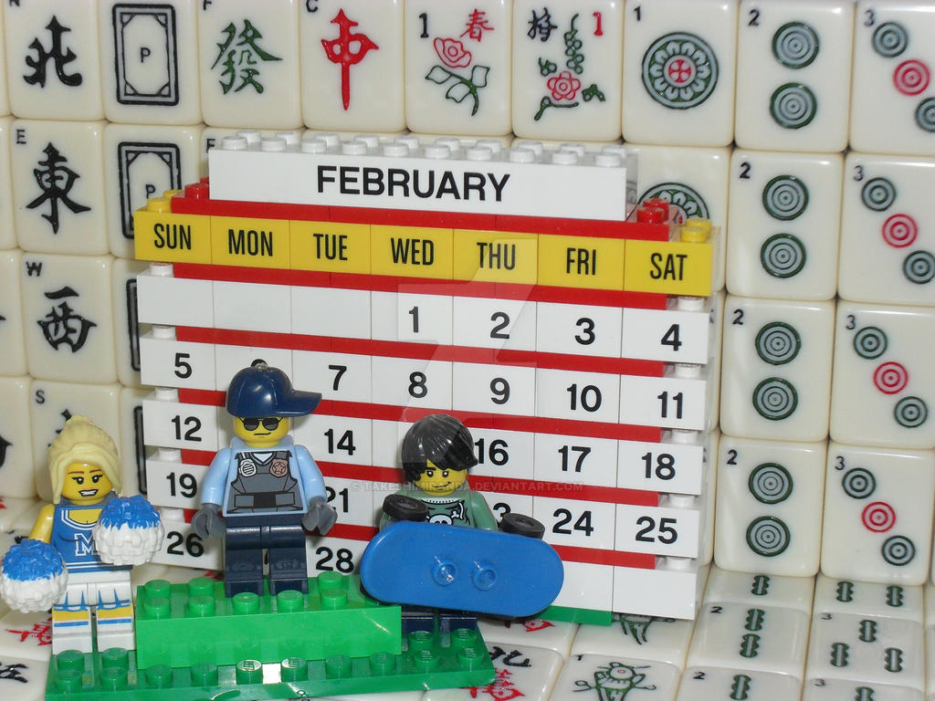 My 8th LEGO Build: Brick Calendar #1-8 by takeshimiranda