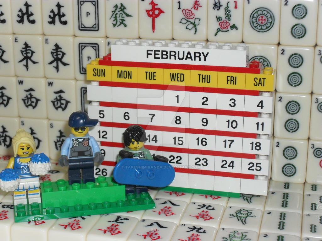 My 8th LEGO Build: Brick Calendar #1-9 by takeshimiranda
