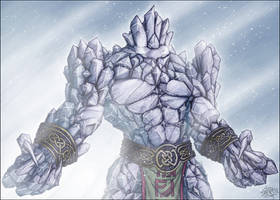 Ice Elemental by spiritamael