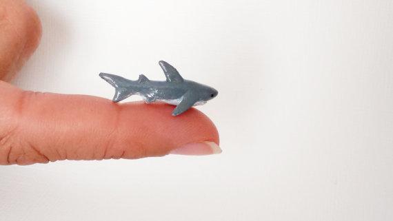 Miniature Shark - Handmade in polymer clay by Zyklon81