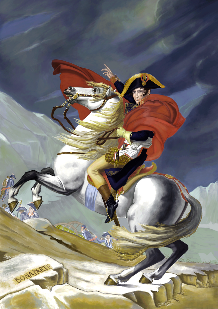 Napoleon Crossing the Alps - Digital Painting by Zyklon81