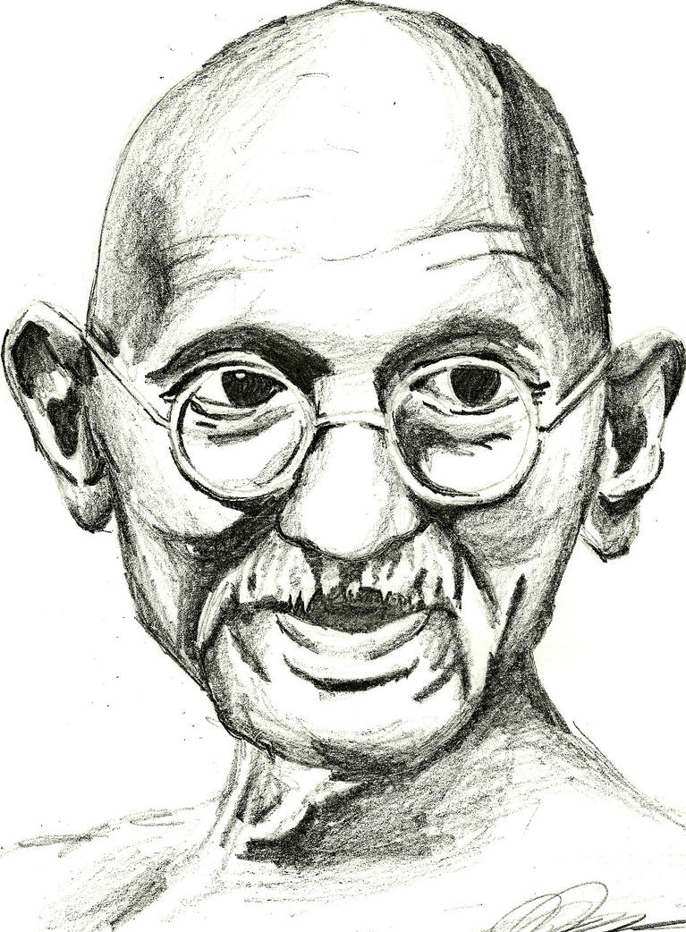 Gandhi Portrait by hapbuk
