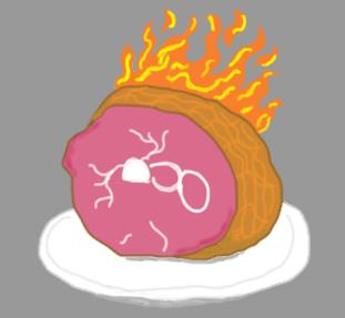 Paint Me a Burning Ham by Cerulean452
