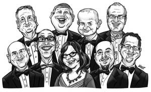 Corporate Caricatures by JustinWyatt