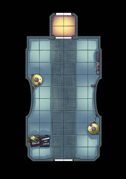 Spaceship floorplan