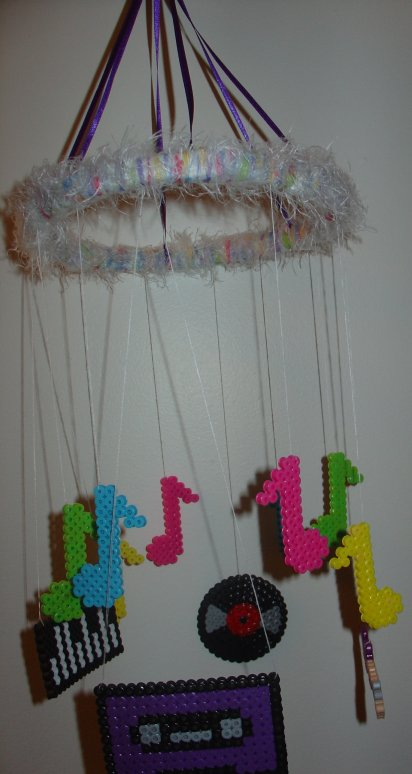 perler bead music mobile by diygirl