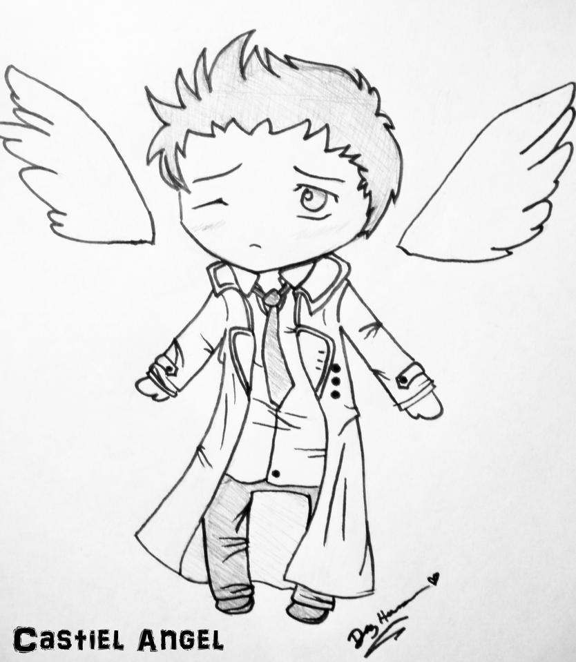 Castiel from supernatural free coloring pages for Supernatural coloring pages