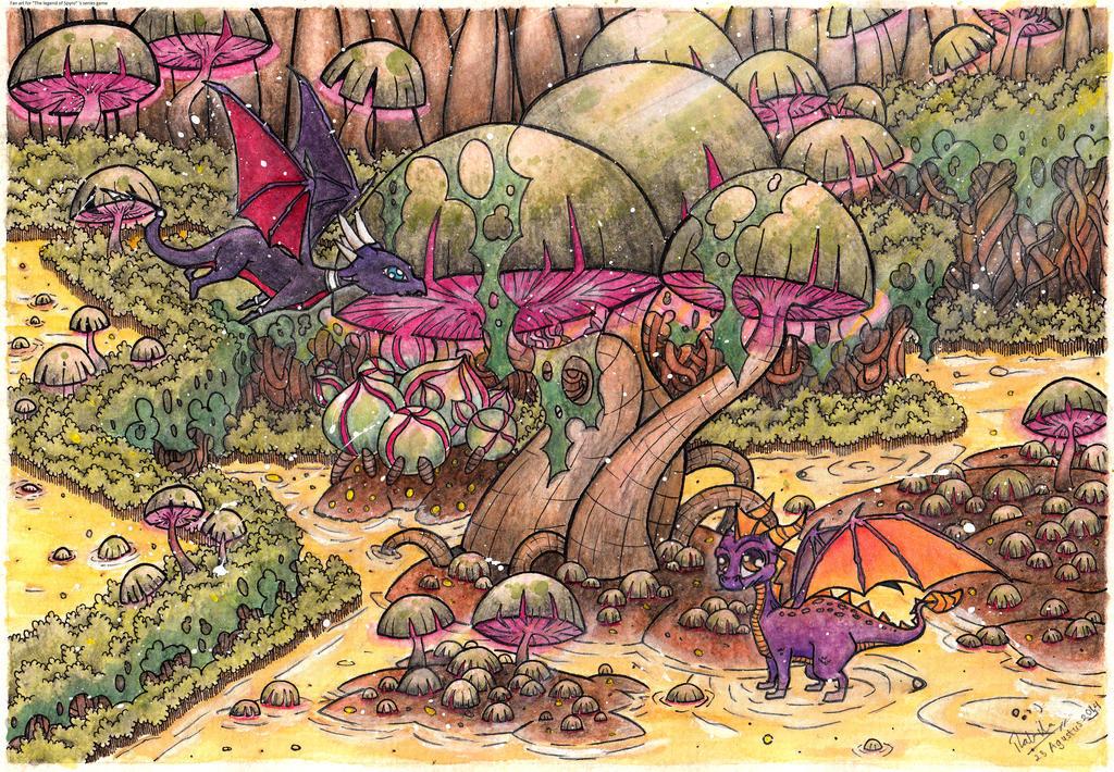 Spyro - Swamp by Soraheat