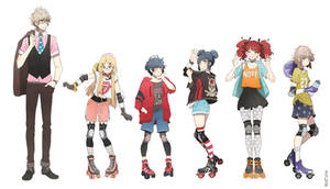 Roller derby girls: characters