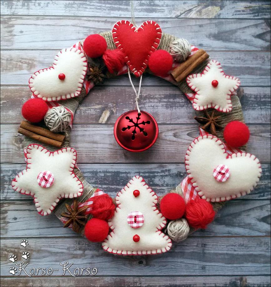 Felt Christmas Wreath by karsokarso