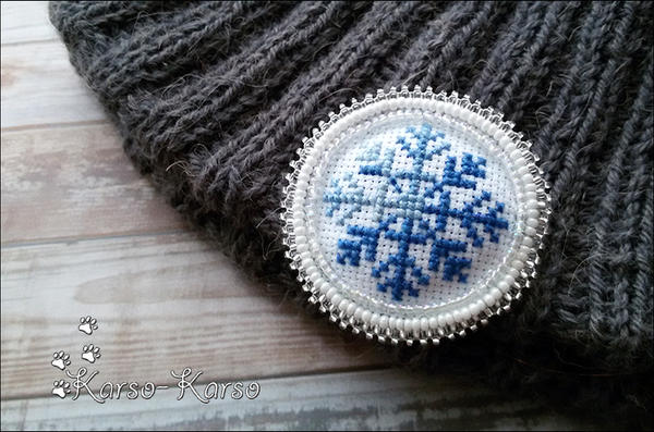 Snowflake Brooch by karsokarso
