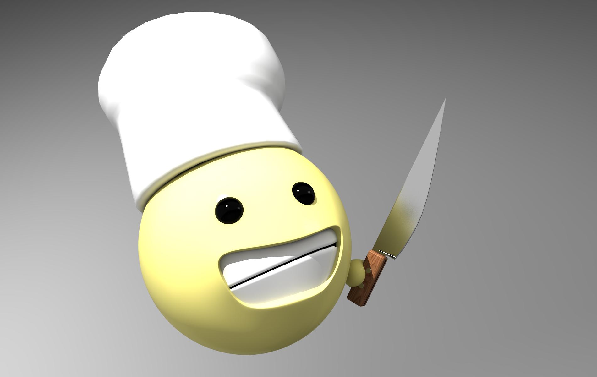 3d emoticon chefxyzer on deviantart
