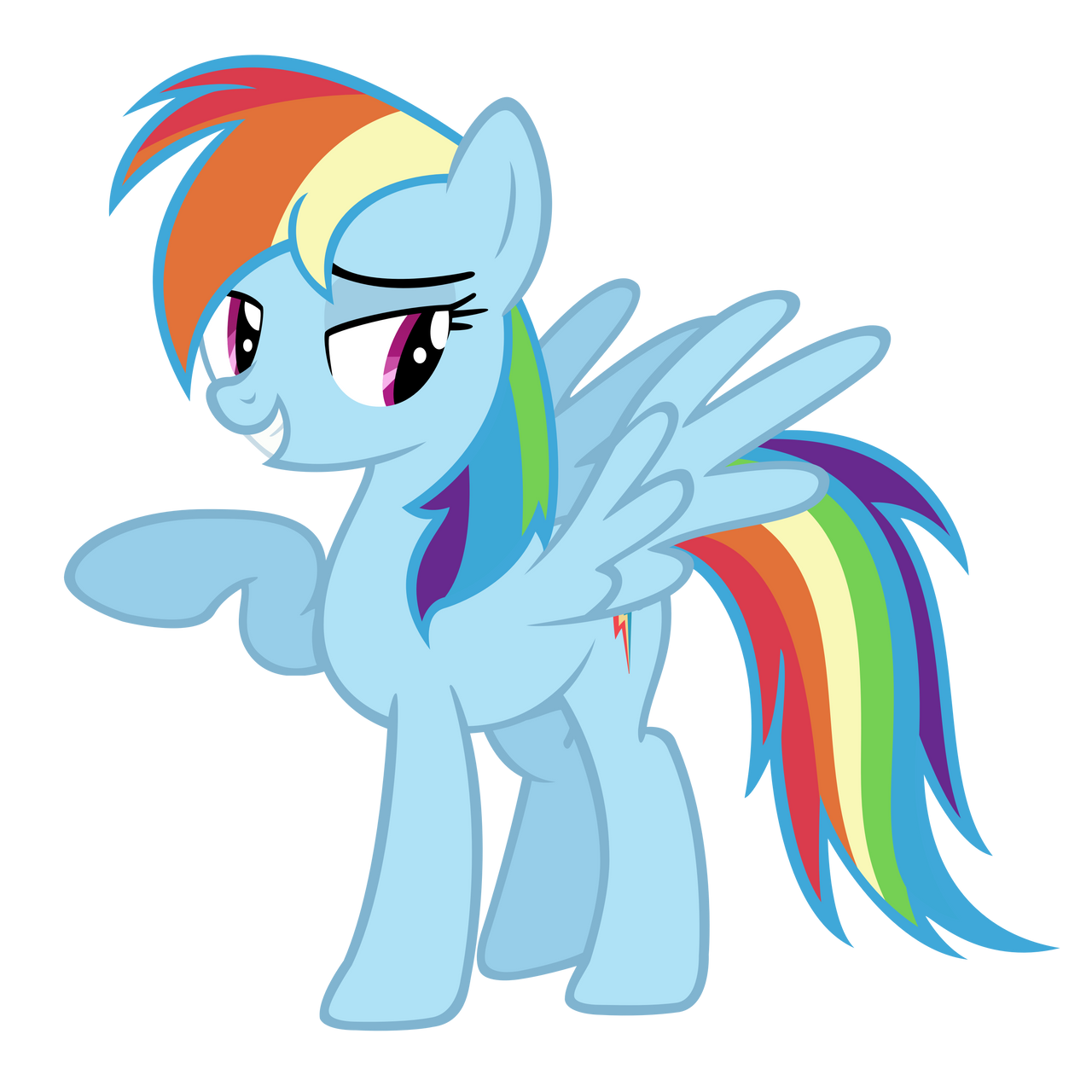 Rainbow Dash Vector by Ashidaru