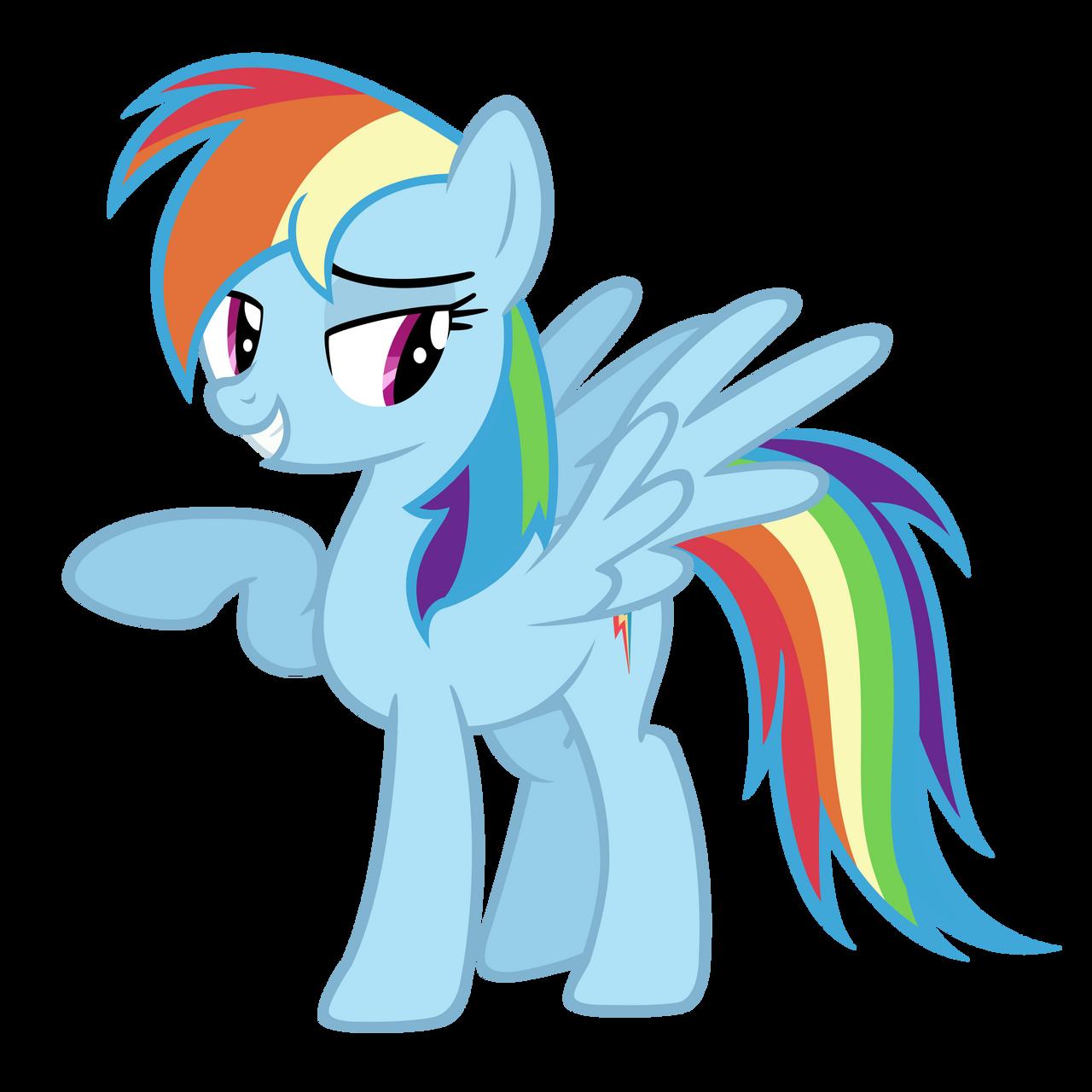 Rainbow Dash Vector by Ashidaru